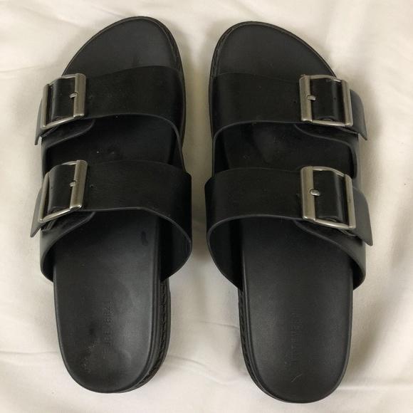 52bb4a305585 Forever 21 Shoes - Black Birkenstock Style Sandals